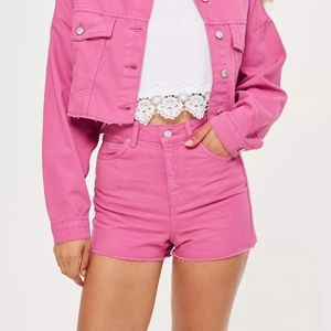 TOPSHOP MOM SHORTS SIZE 14 PINK NEW W TAGS!